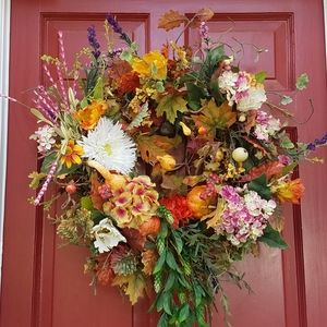New FALL DECORATED 28 INCH WREATH